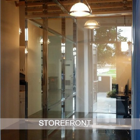 store front glass